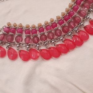 SHADES OF PINK - STATEMENT NECKLACE (free shipping)